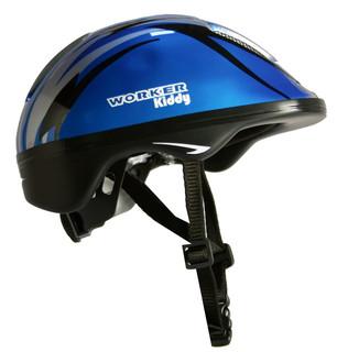 Dětská cyklo přilba WORKER Kiddy modrá - 48-52 cm