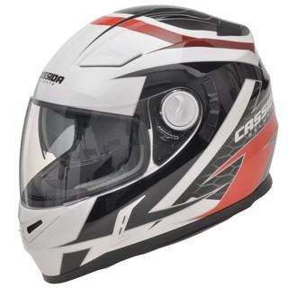 Moto helma Cassida Evo Černo-bílo-červená - XXL (63-64)
