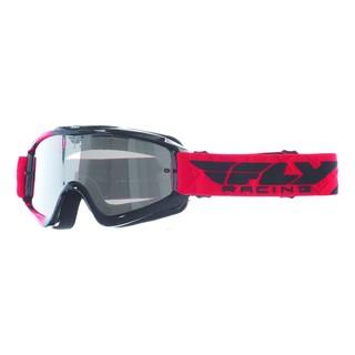 Motokrosové brýle Fly Racing RS Zone černé/červené, čiré plexi s čepy pro slídy