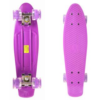 Penny board Maronad Retro se svítícími kolečky fialová