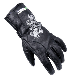 Dámské kožené moto rukavice W-TEC Natali černá - XL