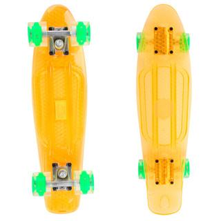 Penny board Maronad Retro Transparent se svítícími kolečky oranžová