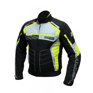 Pánská textilní moto bunda Spark Mizzen černá-fluo - 6XL
