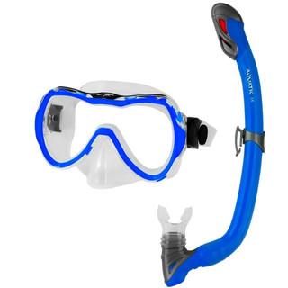 Dětské potapěčské brýle Aqua-Speed Enzo se šnorchlem Samos modrá