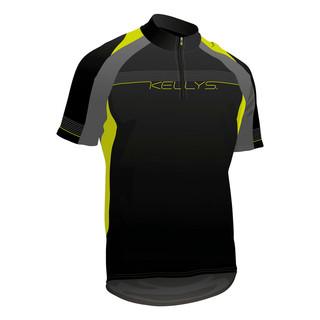 Cyklistický dres KELLYS Pro Sport - krátký rukáv limetková - XXL