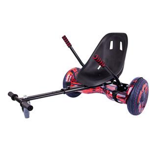 "Elektroboard Windrunner EVO Art - 10"" červený + sedátko Funcart černé"