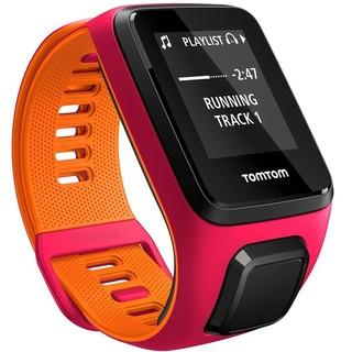 Sporttester TomTom Runner 3 Cardio + Music růžovo-oranžová - S (121-175 mm)