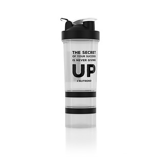 Shaker Nutrend  s dávkovačem 450 ml+ průhledná