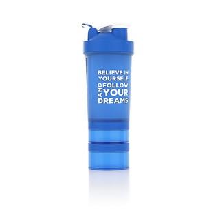 Shaker Nutrend  s dávkovačem 450 ml+ modrá