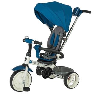 Dětská tříkolka s vodící tyčí Coccolle Urbio modrá