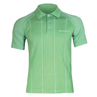 Pánské thermo tričko Brubeck PRESTIGE s límečkem zelená - M