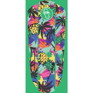 "Nálepka na penny board Fish Classic 22"" Green Hawaii"