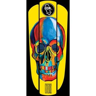 """Nálepka na penny board Fish Classic 22"""" Yellow Skull"""