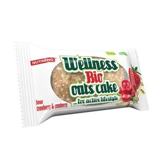 Tyčinka Nutrend Bio Wellness Oats Cake, 50g jahoda-brusinka