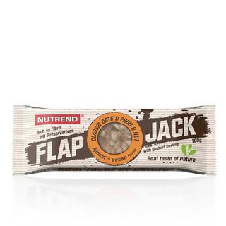 Tyčinka Nutrend FlapJack 100 g meruňka+pekanový ořech s jogurtovou polevou