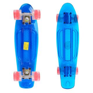 Penny board Maronad Retro Transparent se svítícími kolečky modrá