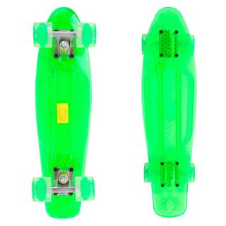 Penny board Maronad Retro Transparent se svítícími kolečky zelená