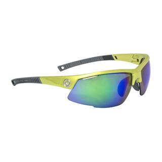 Cyklistické brýle KELLYS Force Shiny Lime, limetková s modrými duhovými skly