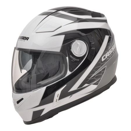 Moto helma Cassida Evo černo-bílá - L (59-60)