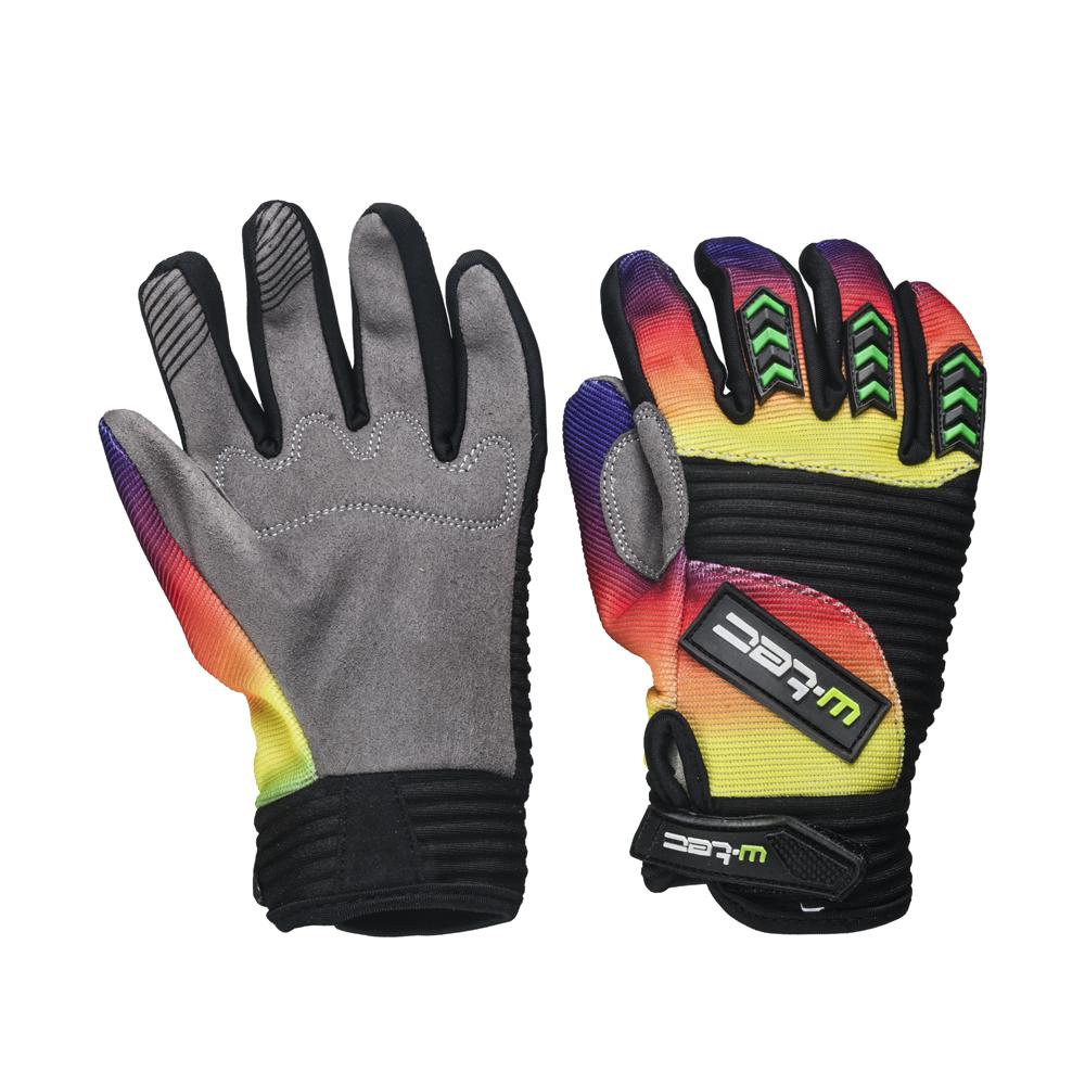 Moto rukavice W-TEC Infryso NF-5300 šedo-duhová - XXS