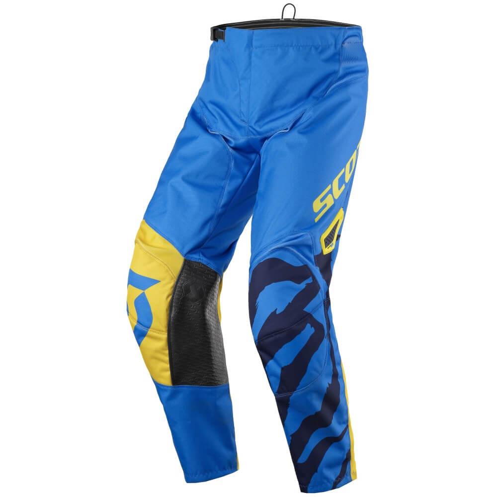 Dětské motokrosové kalhoty SCOTT 350 Race Kids MXVII Blue-Yellow - M (140)