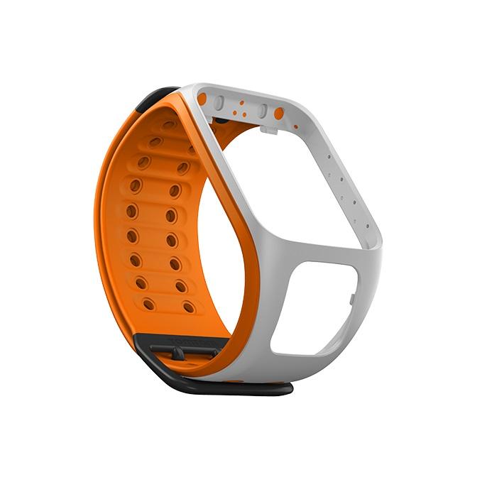Řemínek ke GPS hodinkám TomTom světle šedá/oranžová