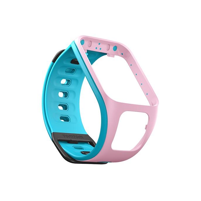 Řemínek ke GPS hodinkám TomTom růžová/světle modrá