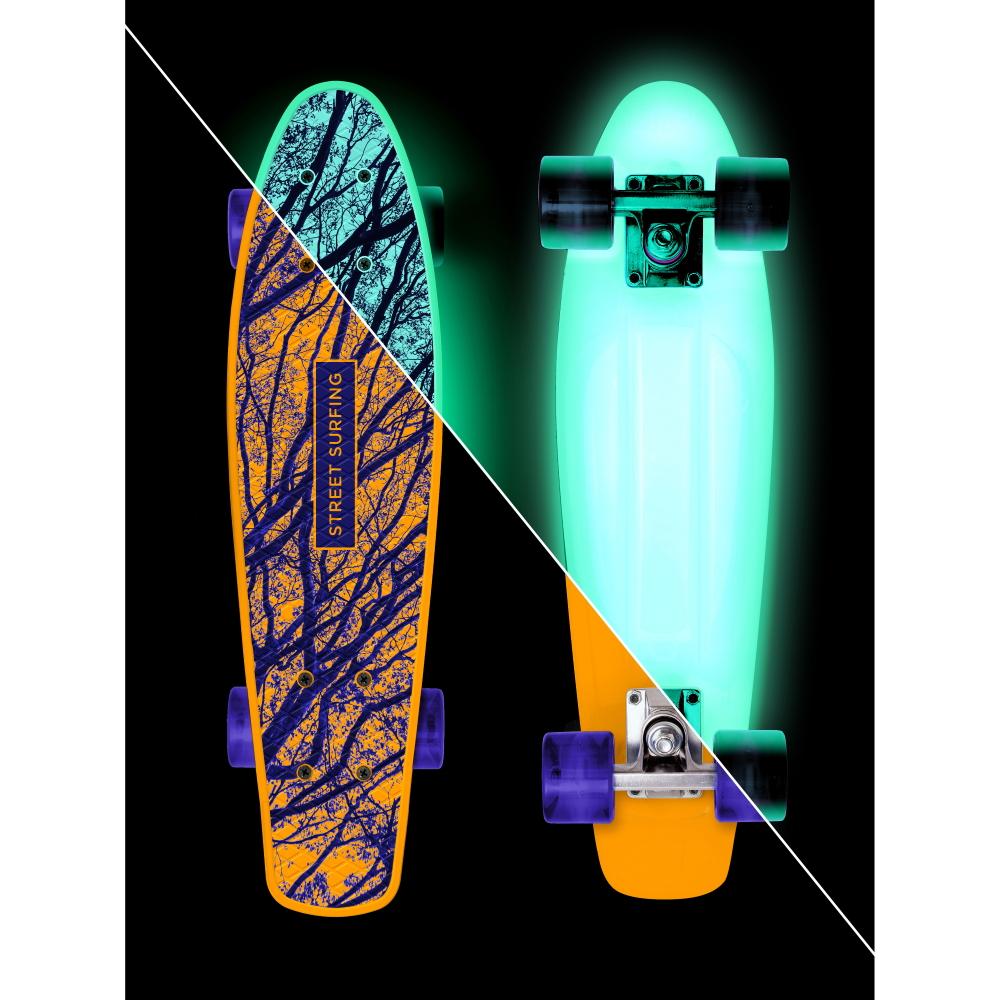 Svítící penny board Street Surfing Beach Board Glow Mystic Forest