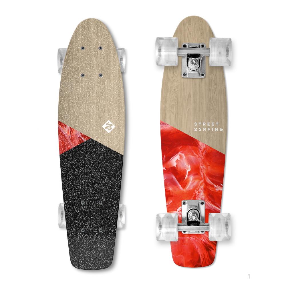 """Penny board Street Surfing Beach Board Wood Bloody Mary 22,5"""""""