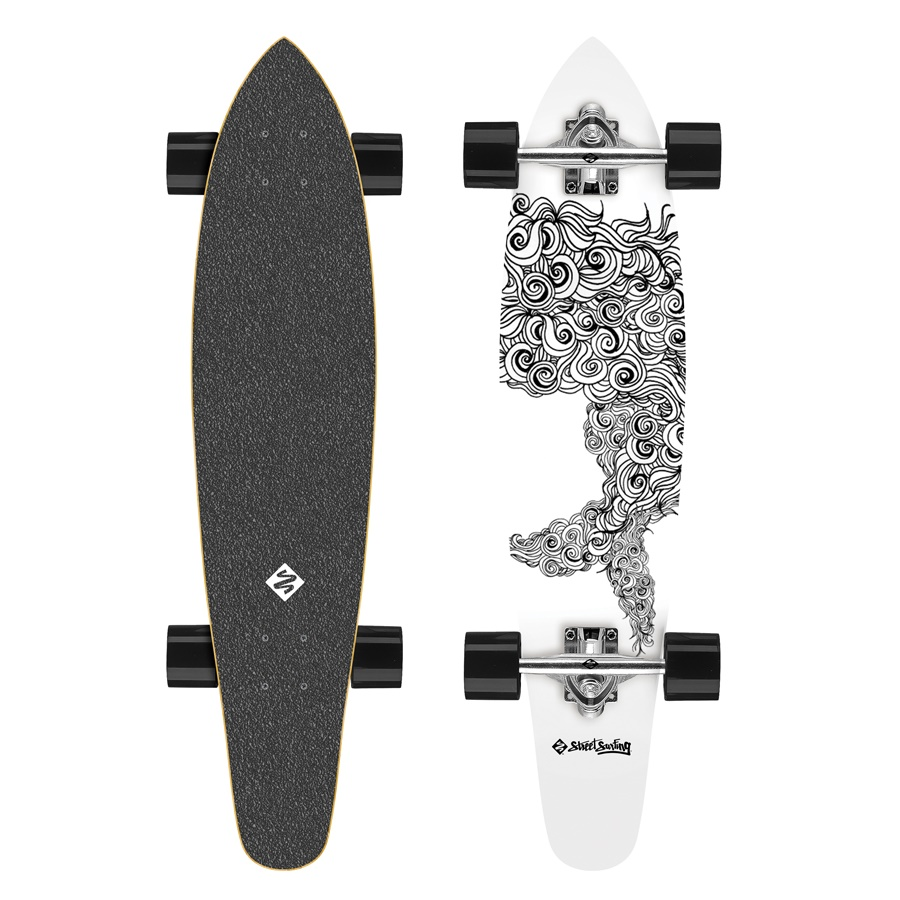 Longboard Street Surfing Kicktail - Sealocks 36""