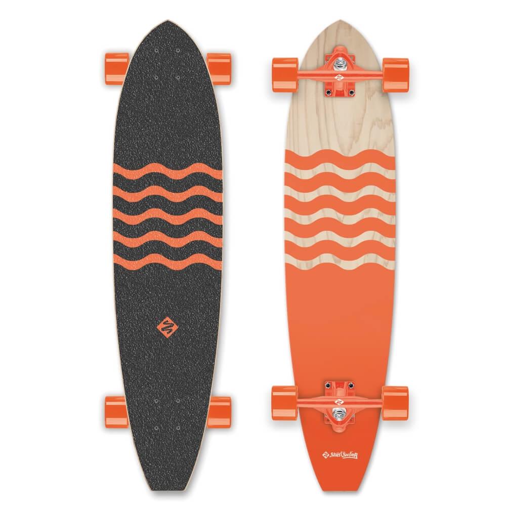 """Longboard Street Surfing Cut Kicktail Blown Out 36"""""""