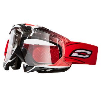 Motokrosové brýle Ozone Mud červená