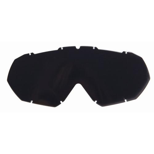 Náhradní sklo k moto brýlím Ozone Mud s piny Tmavá