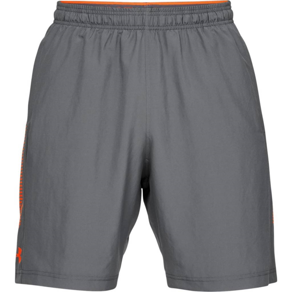 Under Armour Woven Graphic Short GrayOrange - XXL