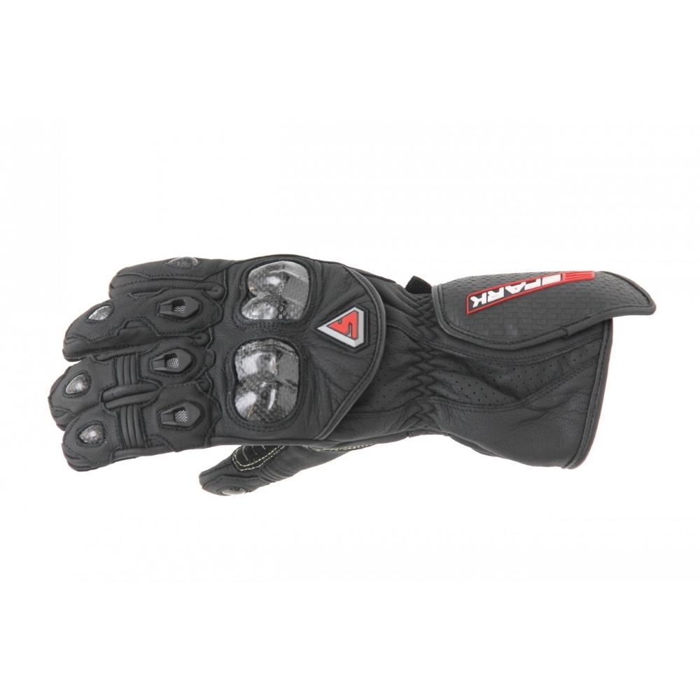Kožené moto rukavice Spark Elite černá - 2XL