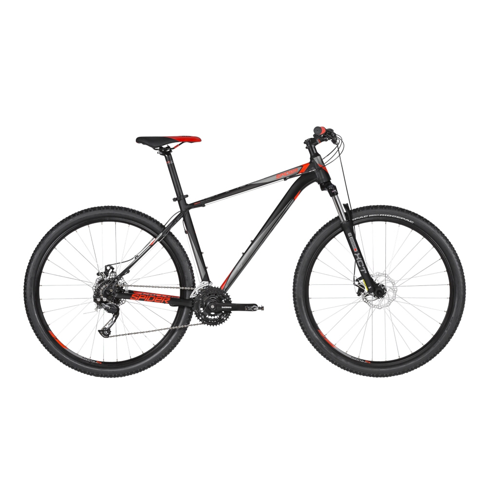 "Horské kolo KELLYS SPIDER 10 29"" - model 2019 Black - S (17'') - Záruka 10 let"