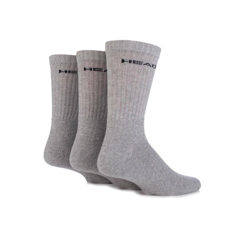 Ponožky Head Crew UNISEX - 3 páry šedo-černá - 35-38