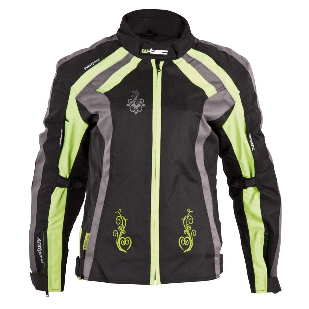 Dámská moto bunda W-TEC Antigona černo-zelená - M