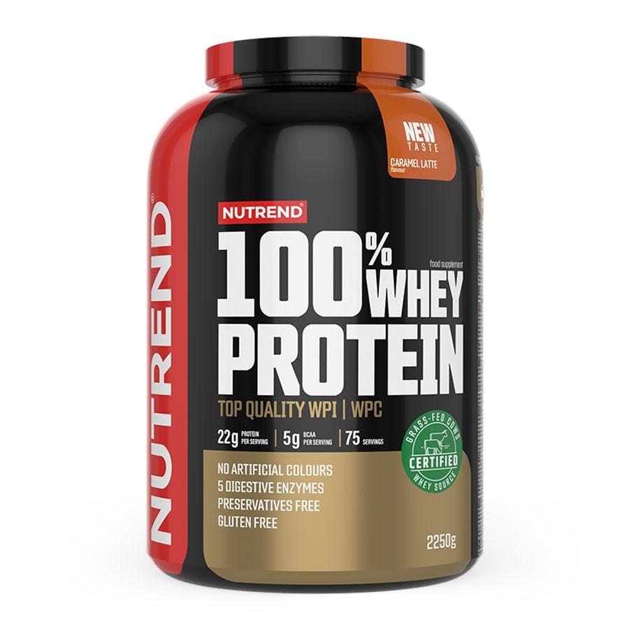 Práškový koncentrát Nutrend 100% WHEY Protein 2250g malina