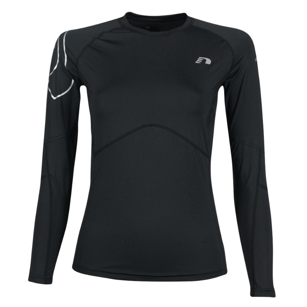 Dámské kompresní termo triko Newline Iconic Compression Thermal LS Shirt - dlouhý rukáv černá - S