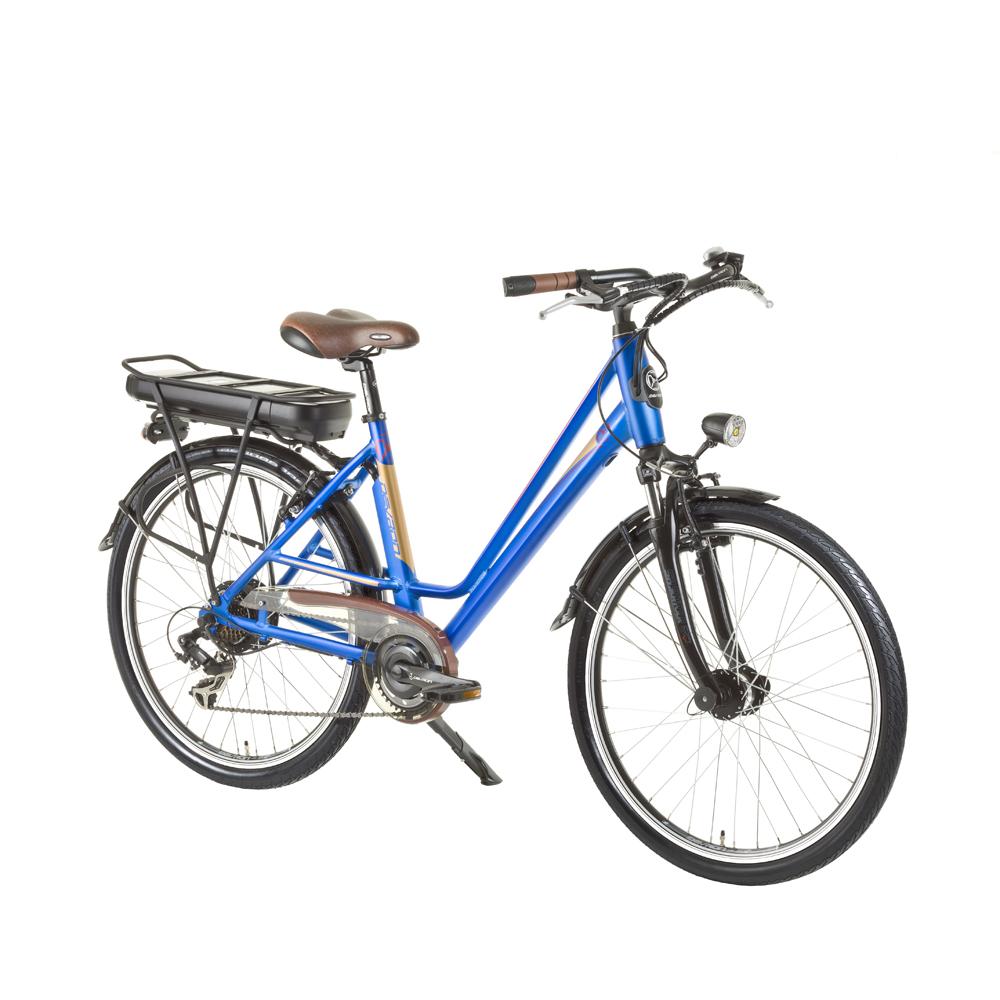 Městské elektrokolo Devron 26122 - model 2015 modrá - Servis u zákazníka + Záruka 5 let