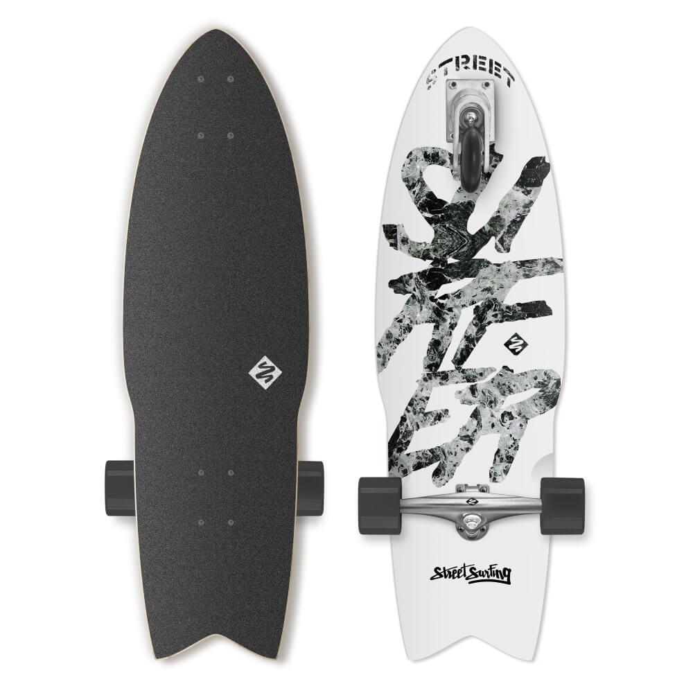 "Longboard Street Surfing Shark Attack Great White 30"""