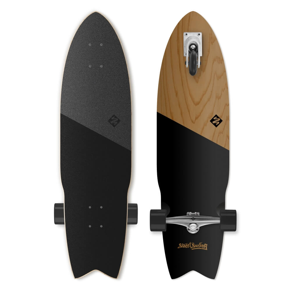 Street Surfing Shark Attack Koa Black 36