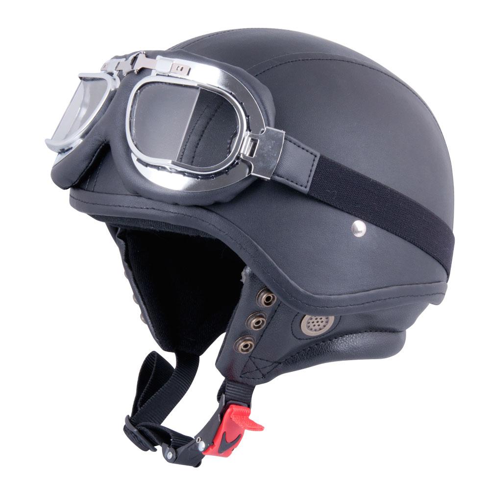 Moto přilba W-TEC AP-62G leather - M (57-58)