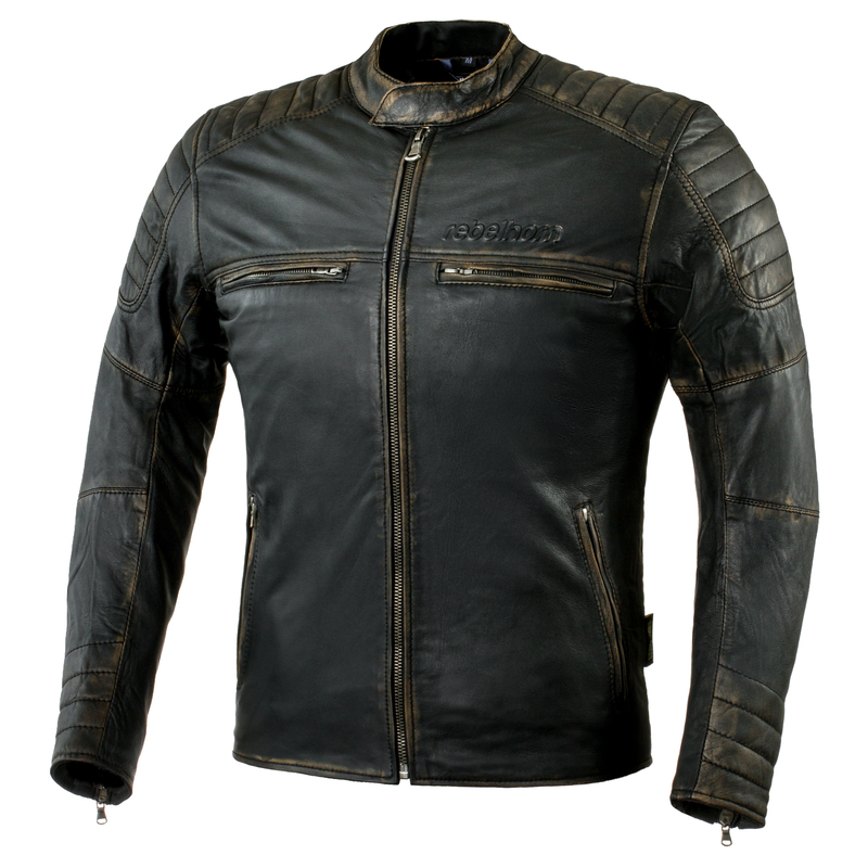 Kožená moto bunda Rebelhorn Hunter Black - M