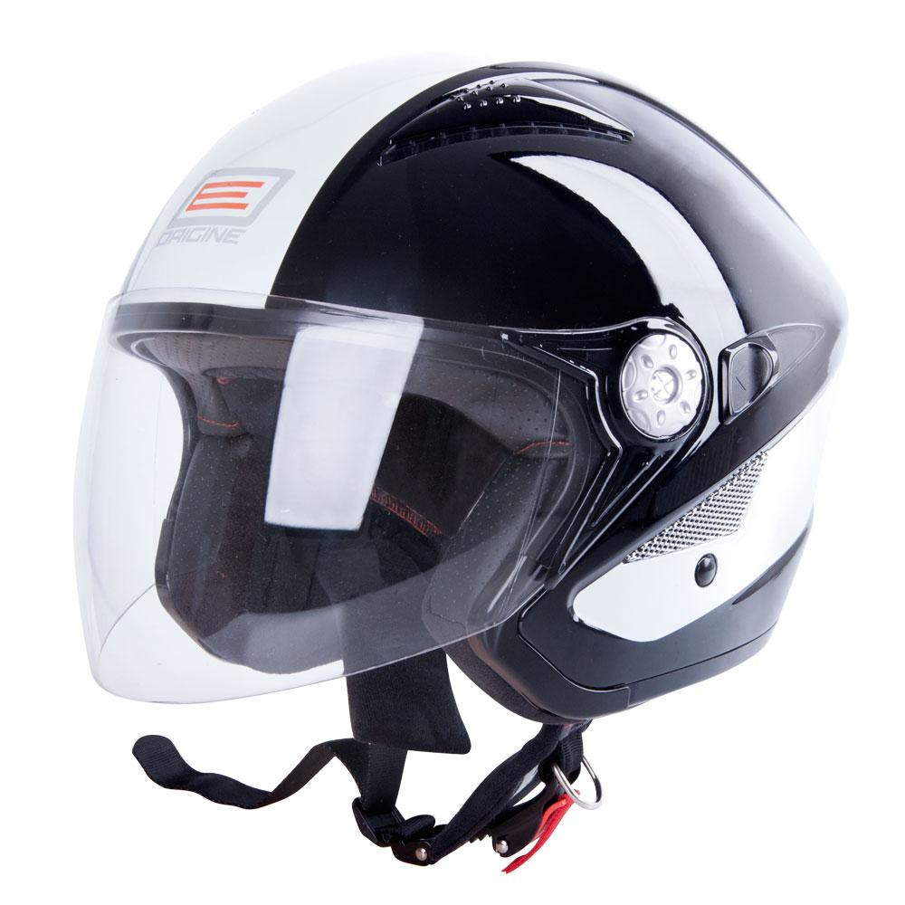 Moto helma ORIGINE V529 černo-bílá - XS (53-54)