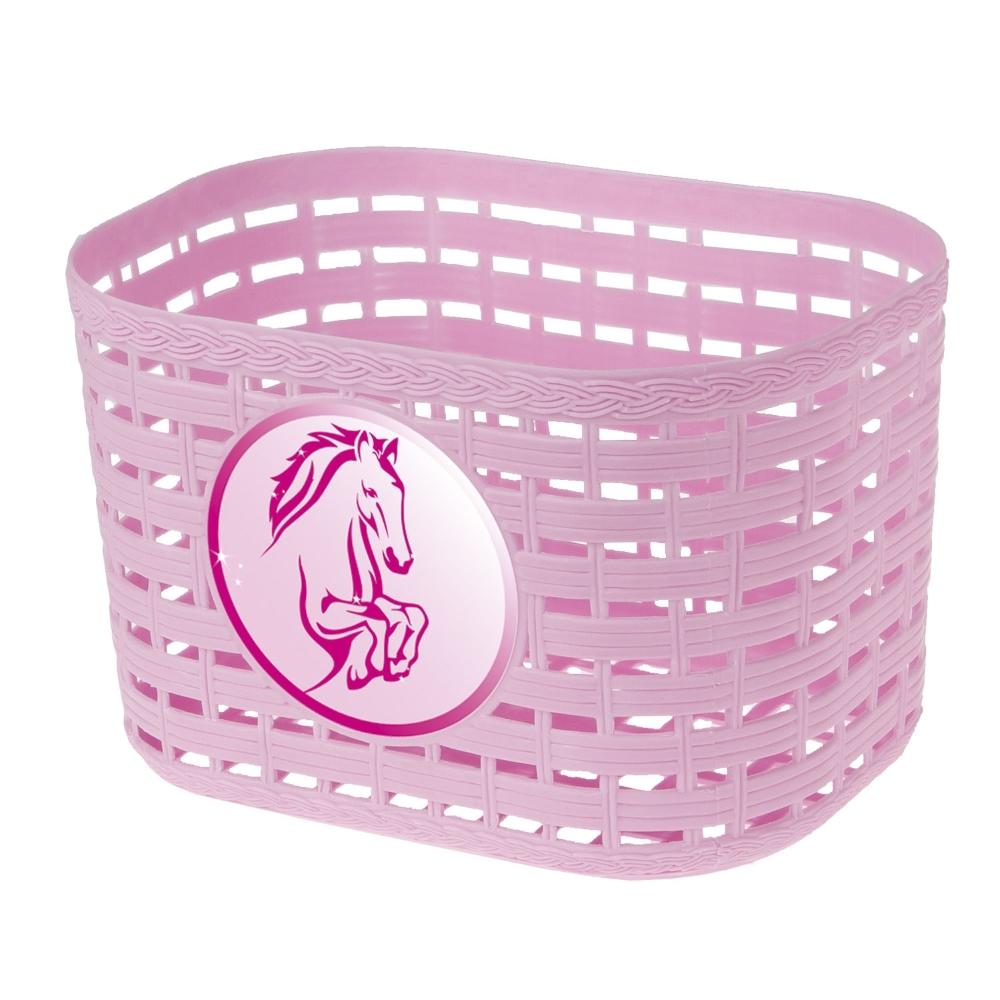 Dětský přední košík plast růžová
