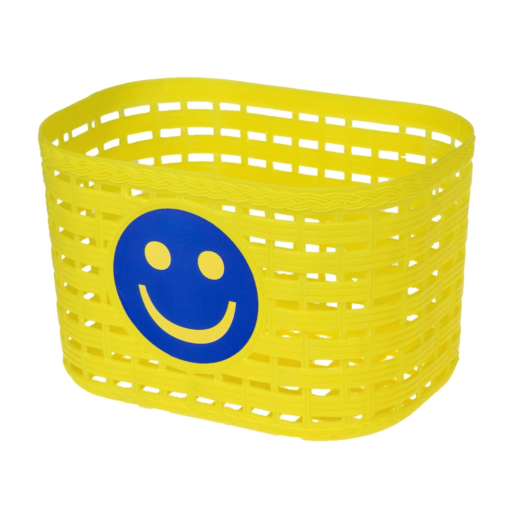 Dětský přední košík plast žlutá