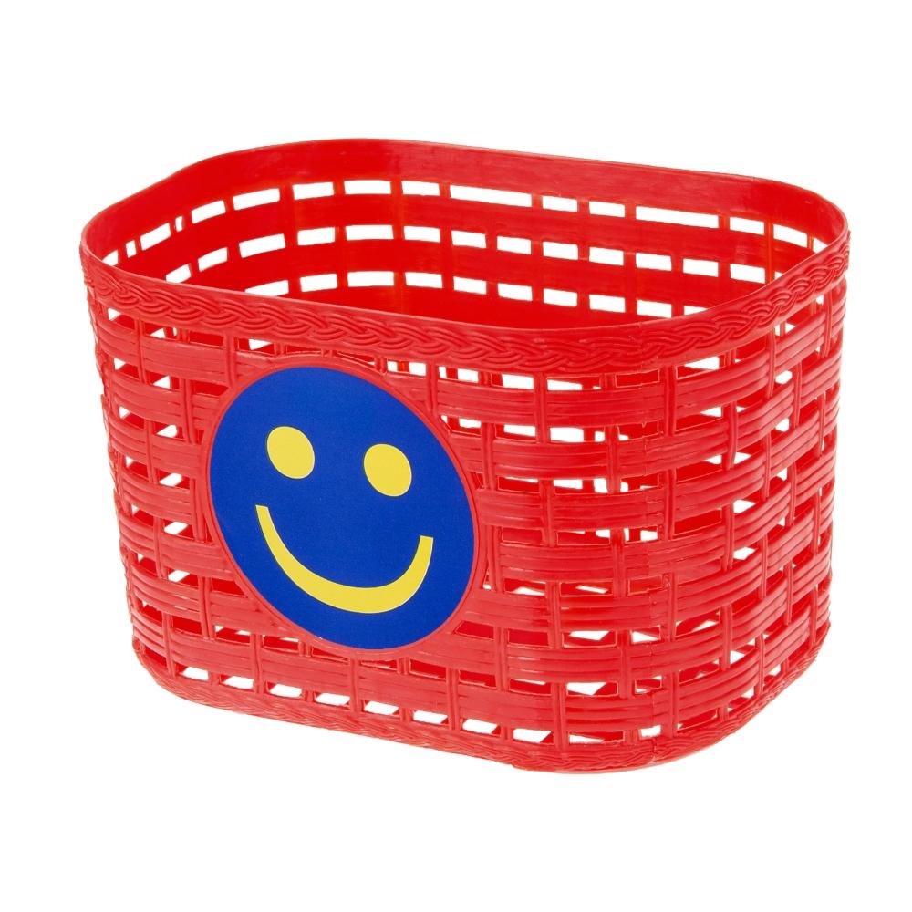 Dětský přední košík plast červená