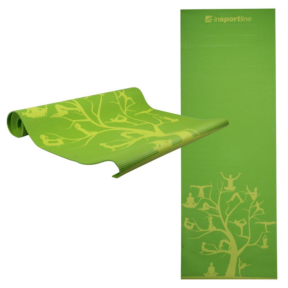 Jóga podložka inSPORTline Spirit zelená